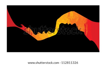 Passion couple - stock vector