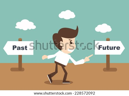 past and future concept - stock vector