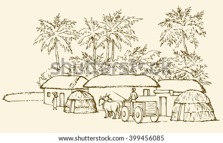 Coloring Book Artist Job : Past biblic babel aged jungle rural stock vector 399456085