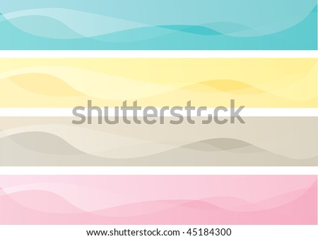 Pastel color banners vector, suitable for website, eps10 - stock vector