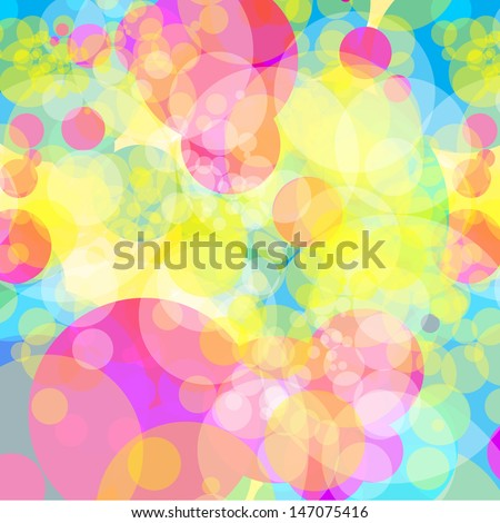Pastel Color Circle Background - stock vector