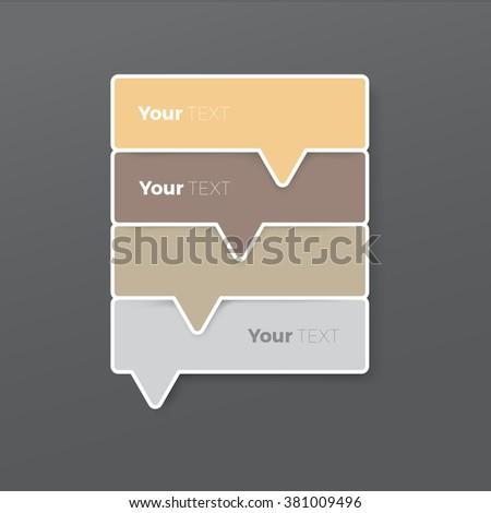 Pastel Color Concept Options List Menu Elements Composition for Your Ranking - stock vector