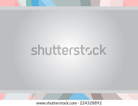 Pastel color text frame - Vector - stock vector