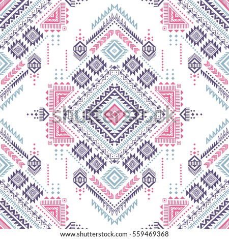 pastel color tribal vector seamless pattern stock vector