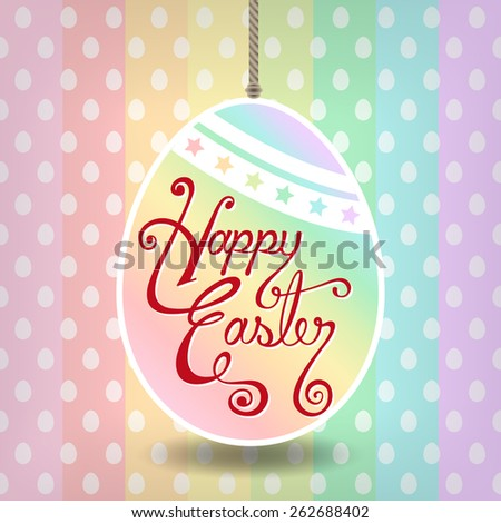 Pastel Happy Easter Typographical - stock vector