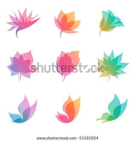 Pastel nature. Elements for design. Vector illustration (eps8). - stock vector