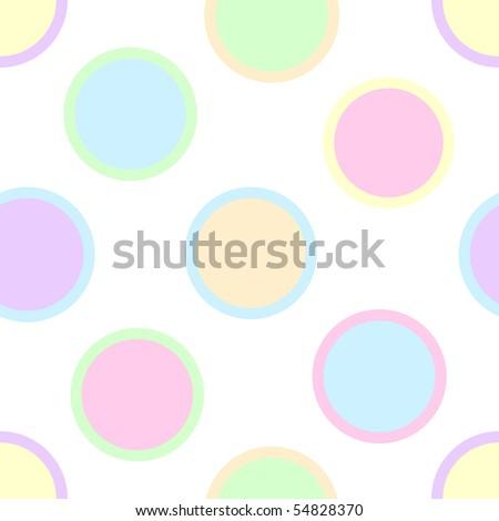 Pastel Polka Dots Vector - stock vector