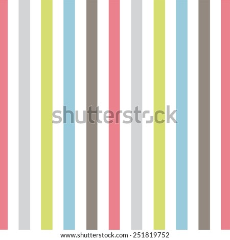 Pastel vertical stripes pattern  - stock vector
