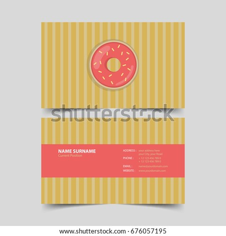 Pastry chef business card design template stock vector 676057195 pastry chef business card design template colourmoves