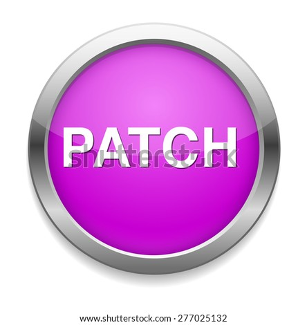 patch icon - stock vector