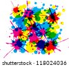 patches of color - stock vector