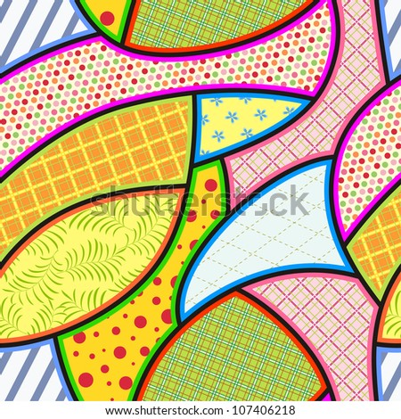 Patchwork seamless pattern. Vector