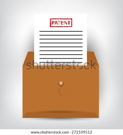 Patent documents. vector illustration. - stock vector