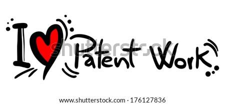 Patent work love - stock vector