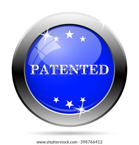 Patented icon. Internet button on white background. EPS10 vector