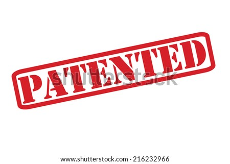 PATENTED Rubber Stamp vector over a white background. - stock vector