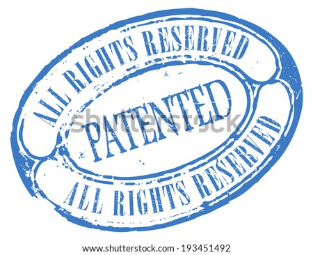 Patented vector stamp - stock vector
