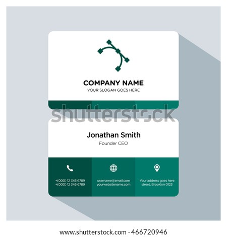 Path icon. Business card template