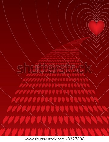 path to love - stock vector