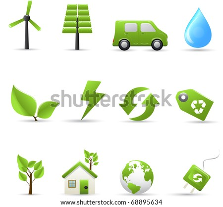 Pathmaster series - Eco symbols - stock vector