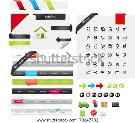 Pathmaster series - web design graphics - stock vector