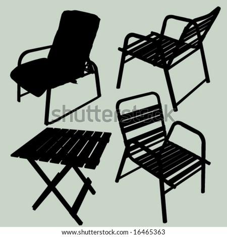 Patio furniture - stock vector