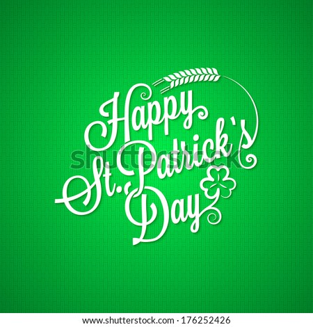 patrick day vintage lettering background - stock vector