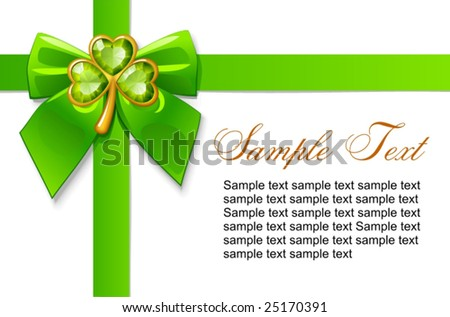 Patrick's day card - stock vector