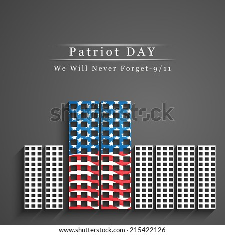 Patriot Day background - stock vector