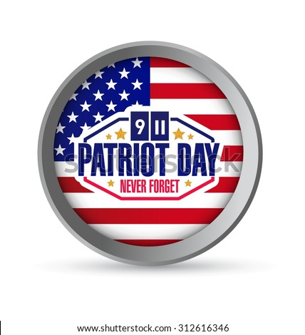 Patriot Day seal illustration design graphic icon
