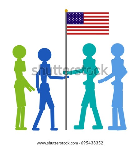 Patriot day Vector color icon on white background.