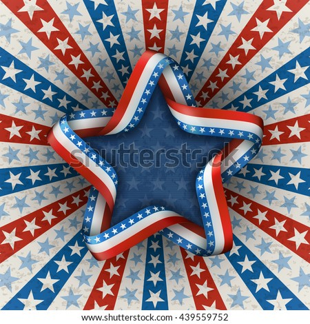 Patriotic american background for fourth of july, with star, EPS 10, contains transparency. - stock vector