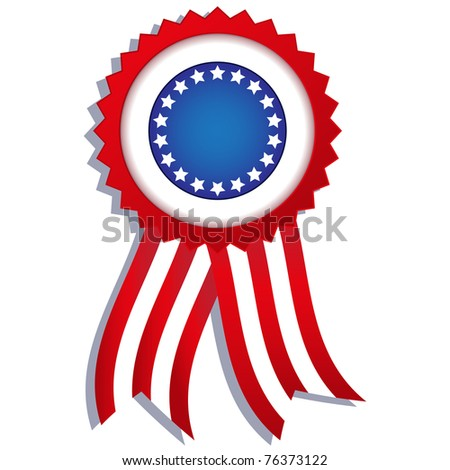 Patriotic badge - stock vector