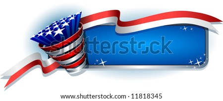 Patriotic banner - stock vector