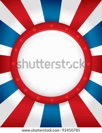 Patriotic Button Background - stock vector