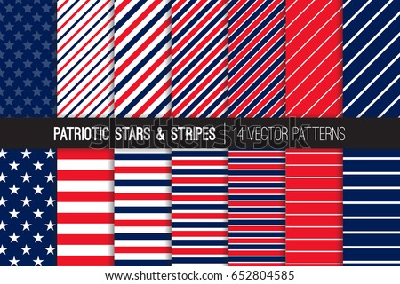 patriotic red white blue stars stripes vector patterns july 4th independence day backgrounds