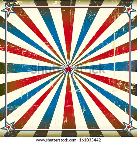 Patriotic square background. A patriotic backgrount for a poster - stock vector