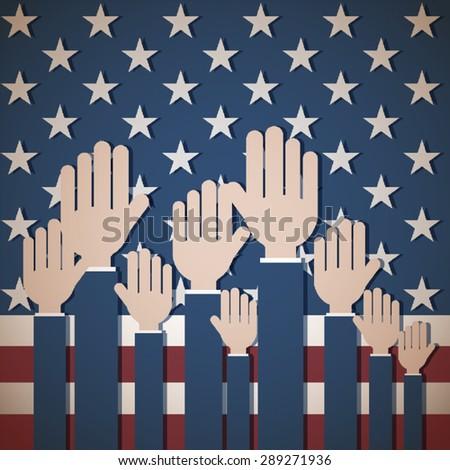 Patriotic Us Voting Background - stock vector