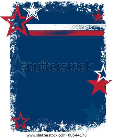 Patriotic USA Stars & Stripes Background - stock vector