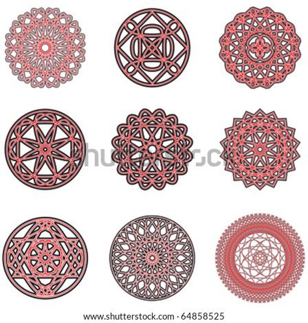 pattern arabic ornaments. vector - stock vector