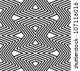Pattern black and white zigzag - stock vector