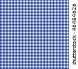 Pattern blue picnic - stock photo