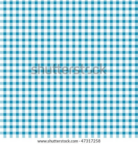 pattern blue picnic - stock vector