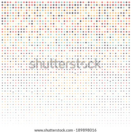 pattern, colored diamonds, vector illustration - stock vector