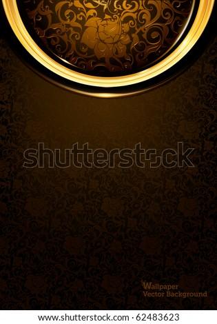 Pattern dark brown Vintage, eps10 - stock vector