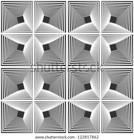 Pattern - distorted square - stock vector