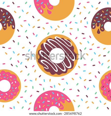 Pattern Donuts - stock vector