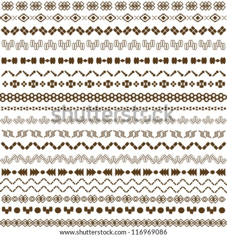 pattern ethnic background vector illustration - stock vector