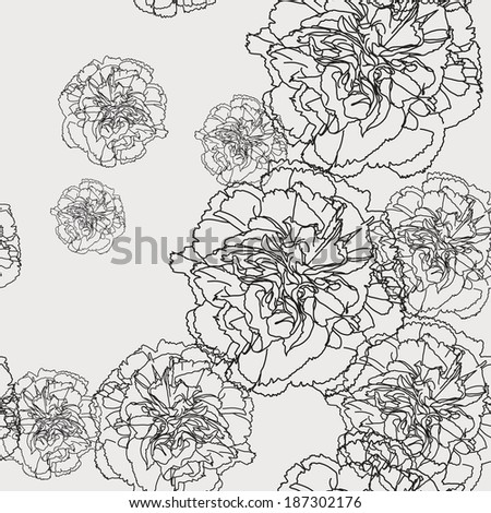 pattern floral seamless, EPS 10