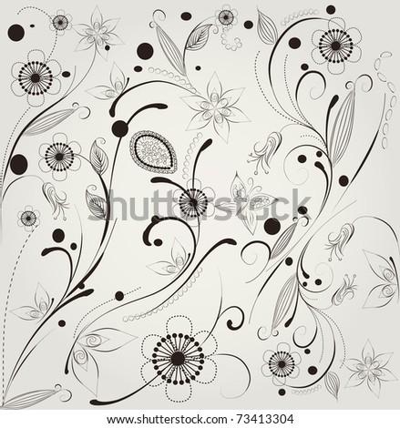 pattern flower - stock vector